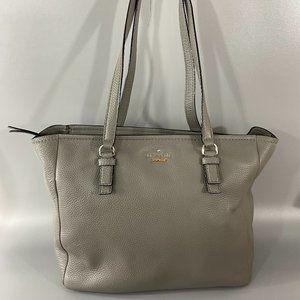 Kate Spade New York Gray Leather Big Tote Bag